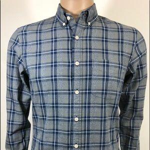 J.Crew Sz S Men's Shirt Slim Fit L/Sleeve Plaid